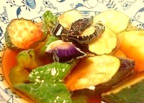 ズッキーニ 野菜の揚げびたしレシピ